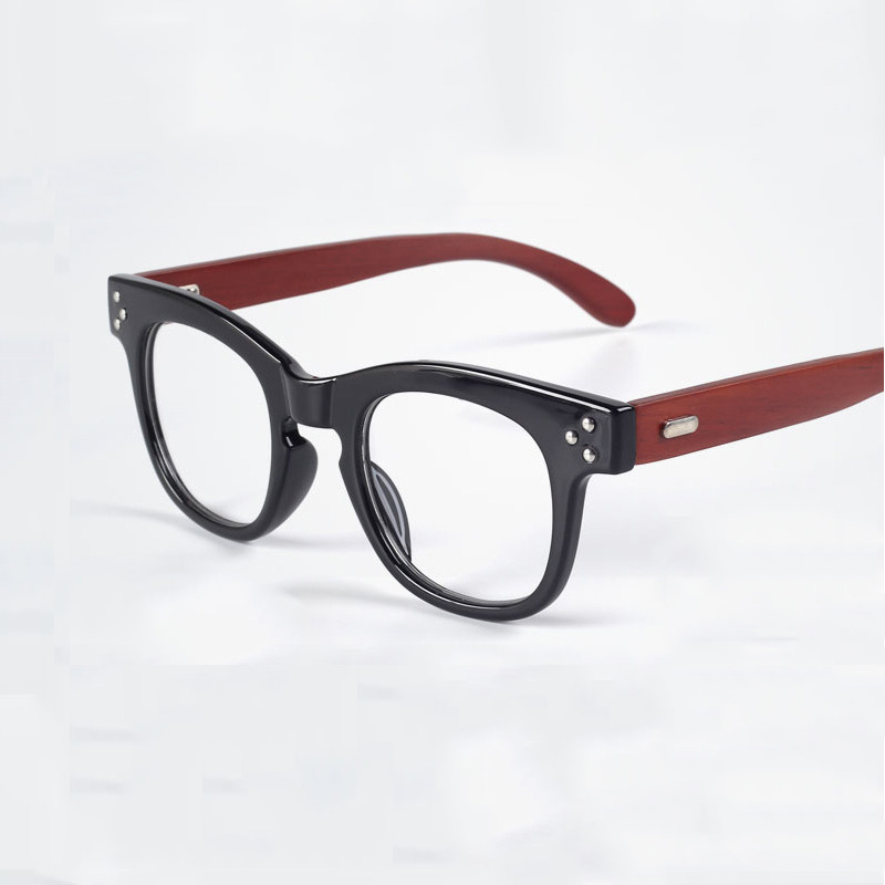 customized factory hot sale red wooden legs plastic frame eyeglasses prices