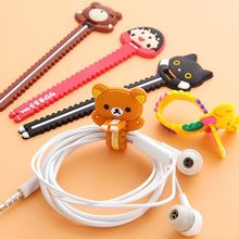 New Cartoon Cat Rilakkuma Saw tooth Style Perforated Bobbin Winder Ear Mechanism Storage Line Multi Function Receive Bag Clip(China)