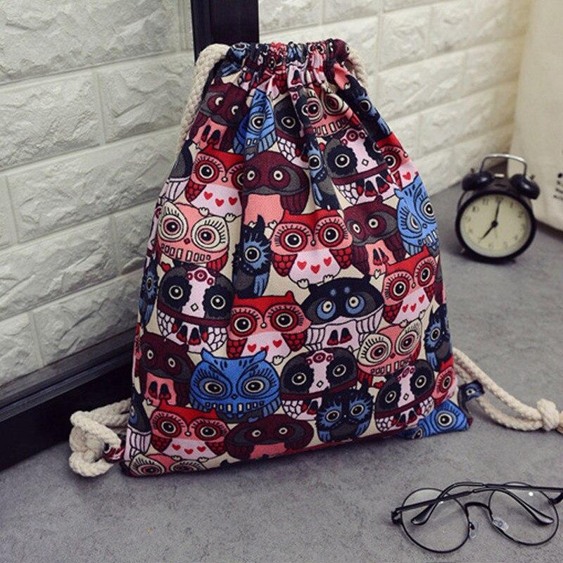 Fashion 3D Printing Nutella Black Mochila Feminina Backpack Women Men Daily Casual Drawstring Bag Girl