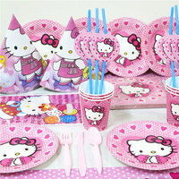 Hello Kitty 115pcs\lot Kids Birthday Party Decoration Set Party Supplies Baby Birthday Party Pack event party supplies