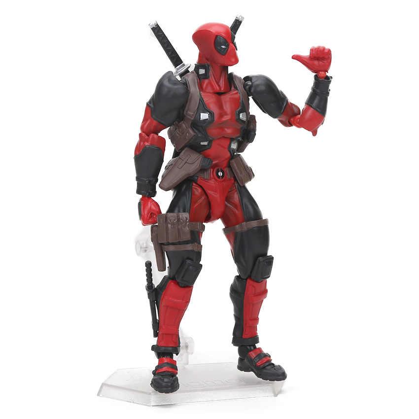 7-33 cm Figura de Ação Deadpool Wade Wilson ARTFX Senhora Deadpool Deadpool com Arma Collectible Modelo Bonecas Brinquedos Mudança rosto Quente