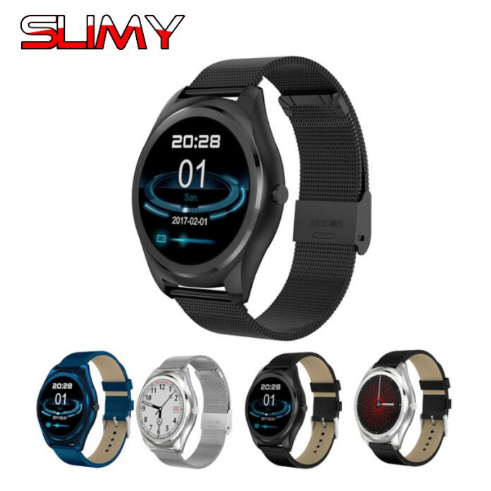 Slimy Smart Watch 1.22 Inch Round Screen Support Sport Heart Rate Monitor Bluetooth Smartwatch For IOS Android PK DM09 K88H KW18 все цены