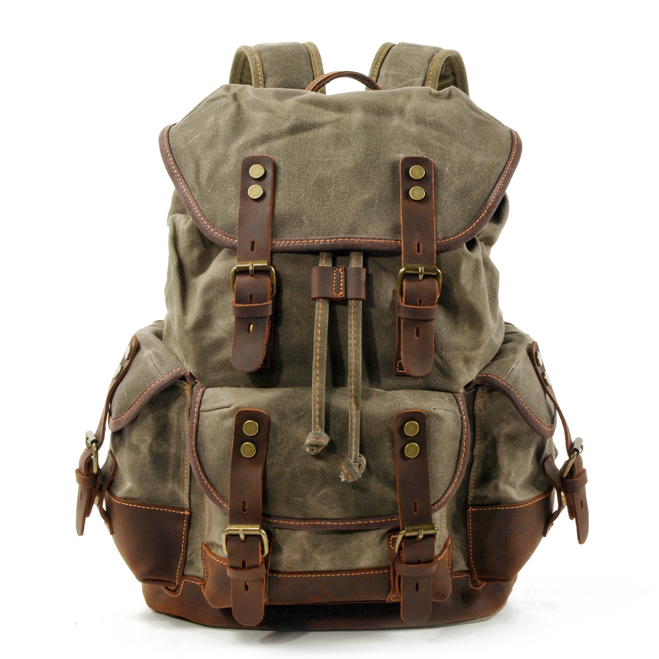 New Top Large Capacity Leather Canvas Backpacks For Men School Bags Vintage Waterproof Daypack Laptop Backpack BagNew Top Large Capacity Leather Canvas Backpacks For Men School Bags Vintage Waterproof Daypack Laptop Backpack Bag