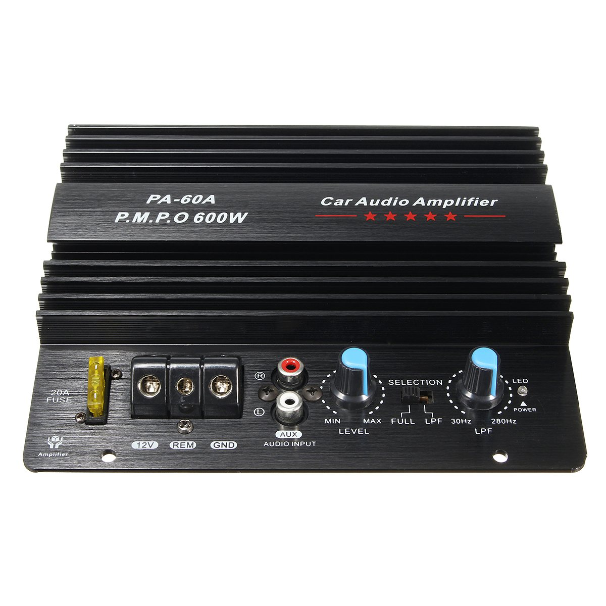 NEW 12V 600W Mono Car Audio Power Amplifier Powerful Bass Subwoofers Amp PA-60A kroak 12v 600w car amplifier board powerful subwoofer car audio amplifier mono stereo power amplifier bass black