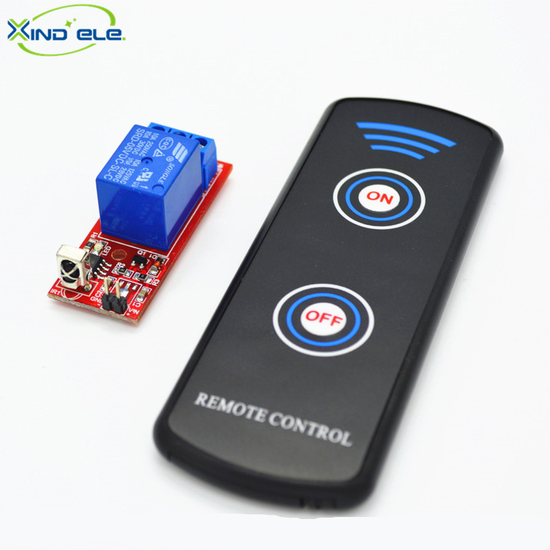 XIND ELE IR Universal Wireless Remote Control DC5V 10A 1-way Receiver, Remote Control Switch Transmitter IR05-1SM+LPM2 660v ui 10a ith 8 terminals rotary cam universal changeover combination switch