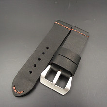 1PCS watch bands genuine cow leather watch straps Crazy horse leather 22MM 24MM 26MM black coffee color -WSC001