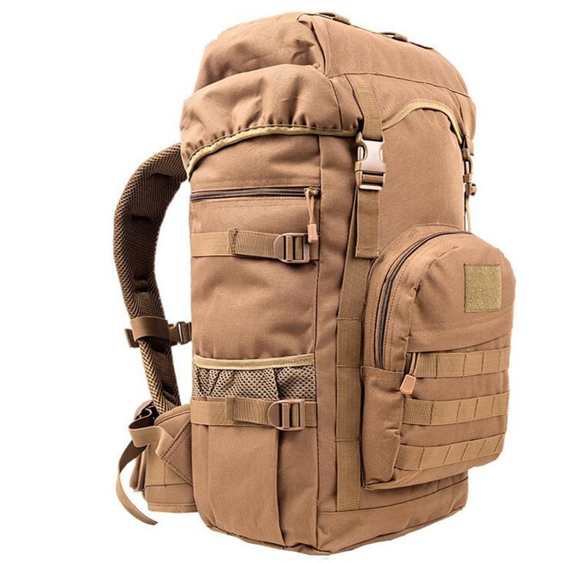 Hot Sale 50L Outdoor Sport Military font b Tactical b font Climbing Mountaineering Backpack Camping Hiking