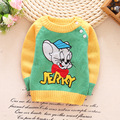 Cartoon Boys Sweater Mouse Knitted Infant Sweaters Winter Cotton Toddler Top Long Sleeve Outfits Pullover For Boy Autumn Winter