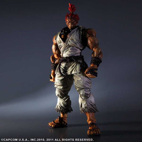 PLAY ARTS 27cm STREET FIGHTER 4 Gouki  Action Figure Model Toys super street fighter iv akuma gouki white variant play arts kai action figure