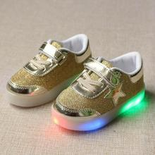 kids LED Luminous shoes boys girls sneakers casual flat children shoes non slip light flash kids shoes boys shoes Eur size 21-30