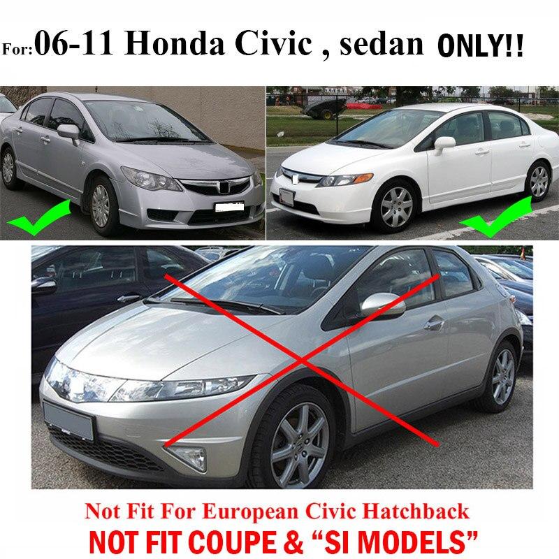 Para Honda Civic 2006 2011 Mudflaps Splash Guardas Lama Dianteiro Traseiro  Conjunto Mud Moldado Flap Mudguards Fender 2007 2008 2009 2010 Abas Em  Mudguards ...