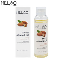 MELAO 4oz Pure Sweet Almond Oil Organic Essential Oils Skin Care Natural Moisturizing Oil Body Massage Lifting Firming 120ml