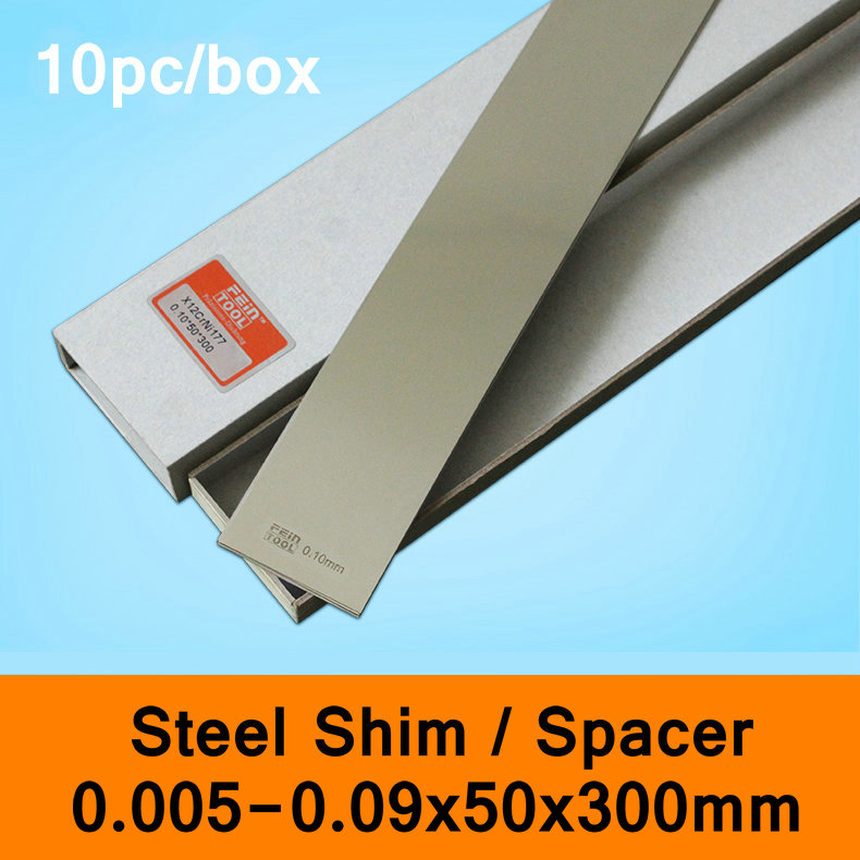 Stainless Steel Spacer Mold Mould Adjustable Gasket Shim Filler Feeler Leaf Thin Steel Sheet 10pcs Per Box 0.005-0.09mm 50x300mm household product plastic dustbin mold makers