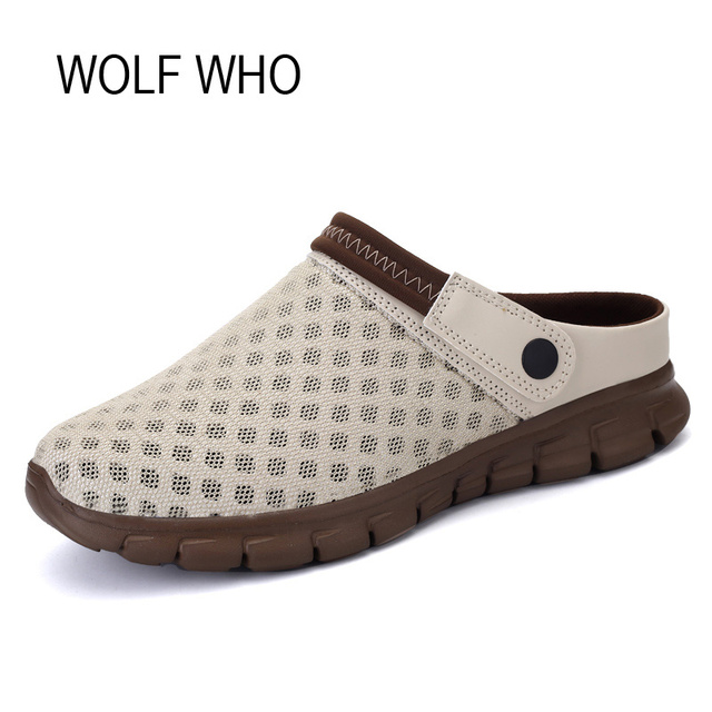 Wolf Who Summer Women Air Mesh Water Breathable Beach Shoes Platform Casual Ladies Krasovki Slipony Slip On Loafers Female x393