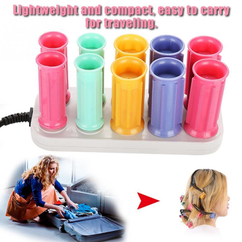 Image 2 - Conjunto de Rolos de Cabelo Varas Do Cabelo Rolo de Curling Rolo elétrico Aquecido Tubo Seco & Molhado EncaracoladoBobs para cabelo   -