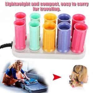 Image 2 - Elektryczny podgrzewany rolki lokówka rolki papilotki zestaw włosów przykleja rury suche i mokre kręcone