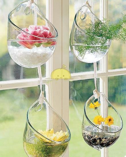 1pcs home decoration wall glass vases wedding decoration shop party decor crystal flower pots planters decorative - Decorative Glass Vases