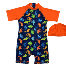 Bonverano(TM) Infant Boys' Swimwear Sunsuit UPF 50+ UV Protection S/S Zipper Shark Three One Piece Swimsuit Rashguard