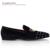 Nuevo Hecho A Mano de Plata de Terciopelo Remache Zapatos Hombres Zapatos Del Holgazán Estrés Caballero de Moda de Lujo Zapatos de Boda de Los Hombres de La Vendimia Pisos Partido