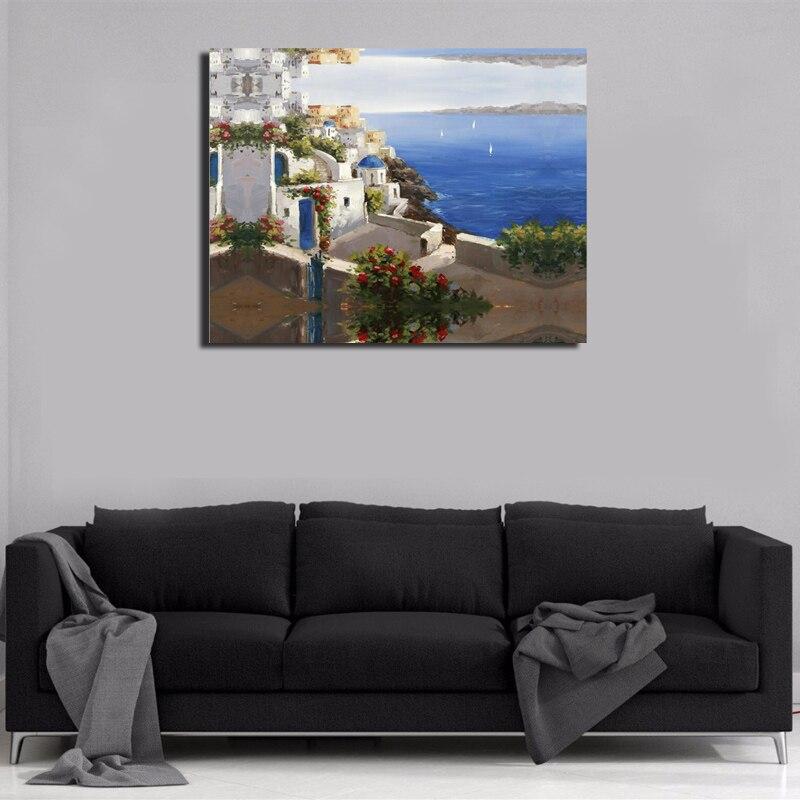 Fashion hot sale HD Printed Painting Home Decor Art Picturere Mediterranean for bed room living room No Framed or Diy Framed