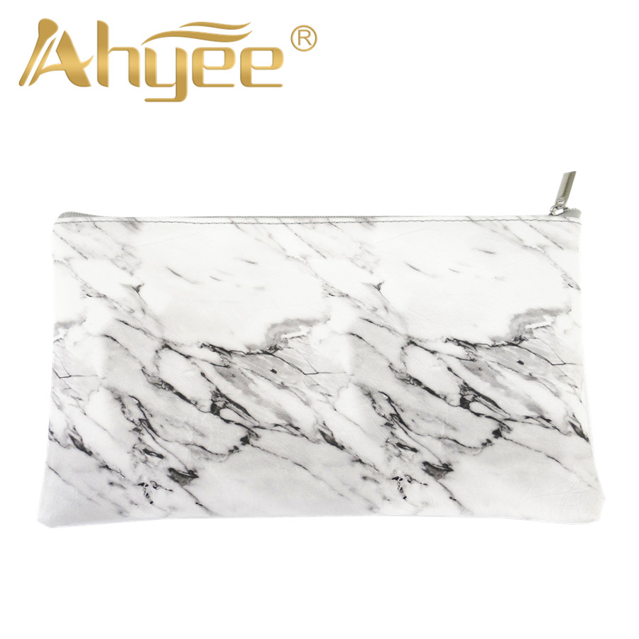 1Pcs Zipper Marble Beautiful Cosmetic Bag New Fashion For woman Makeup Storage Brushes Pen Coin Portable Ladies Travel Square