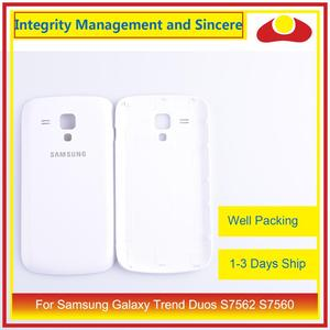 Image 2 - 10Pcs/lot For Samsung Galaxy Trend Duos S7562 7562 S7560 7560 Housing Battery Door Rear Back Cover Case Chassis Shell