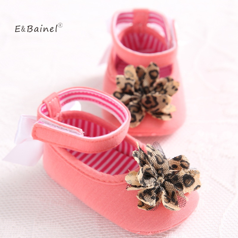 E&Bainel Lovely Girls Princess Pre-walker Shoes Infant Baby Shoes Toddler Crib Shoes Soft Sole Flower Baby Moccasins