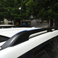Car Accessories Black Color Aluminium Alloy Roof Rail Bar Roof Rack Carrier Luggage Set Frames For
