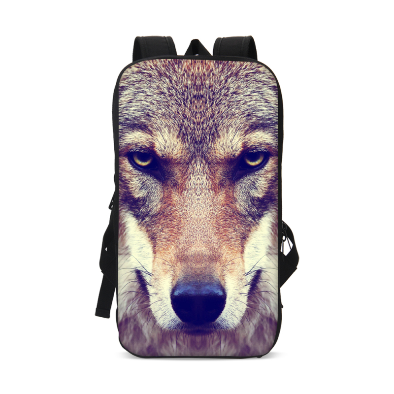 VEEVANV Hot Sales Ipad Backpack Wolf 3D Pattern Tablet Computer Bags 1600D/Polyester 13 Inch Travel Backckpack For Chidren Bags