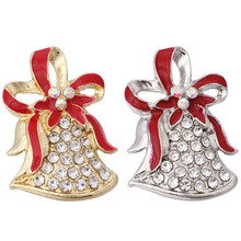 """10 шт./партия, новые ювелирные изделия с защелкой, золотые, серебряные, рождественские кнопки """"сделай сам"""", 18 мм, браслет с защелками для женщин, рождественский подарок, ZA3011A"""