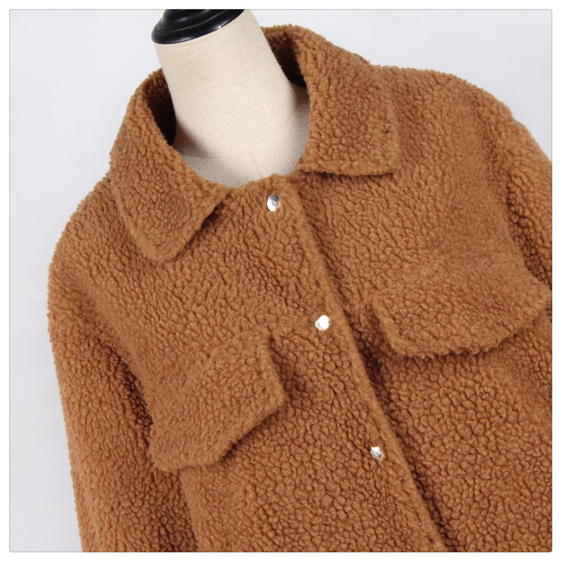 Spot Europe and the United States autumn and winter new style imitation fur foreign trade women plush coat leisure coat women (14)