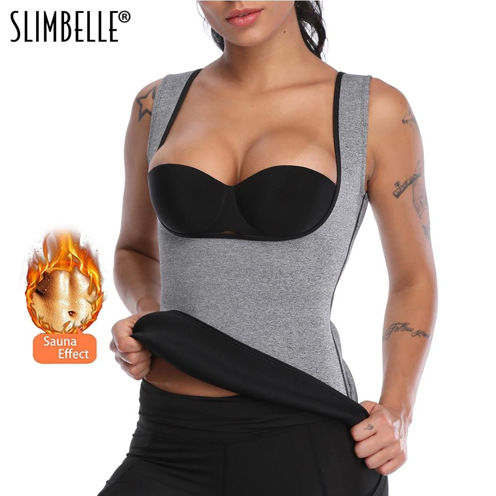 Women Body Shaper Hot Sweat Waist Trainer Workout Tank Top Slimming Vest Tummy Fat Burner Neoprene Shapewear for Weight Loss