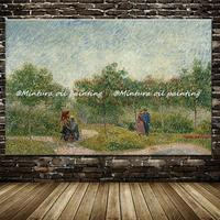 Hand Made Reproduction Vincent Van Gogh Ace Nils Park Of Lovers Famous Oil Painting On Canvas Wall Art Picture For Living Room