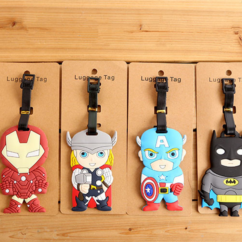 IVYYE Captain America Hero Anime Bag Accessories Luggage Tag Suitcase ID Address Portable Tags Holder Baggage Travel Labels New