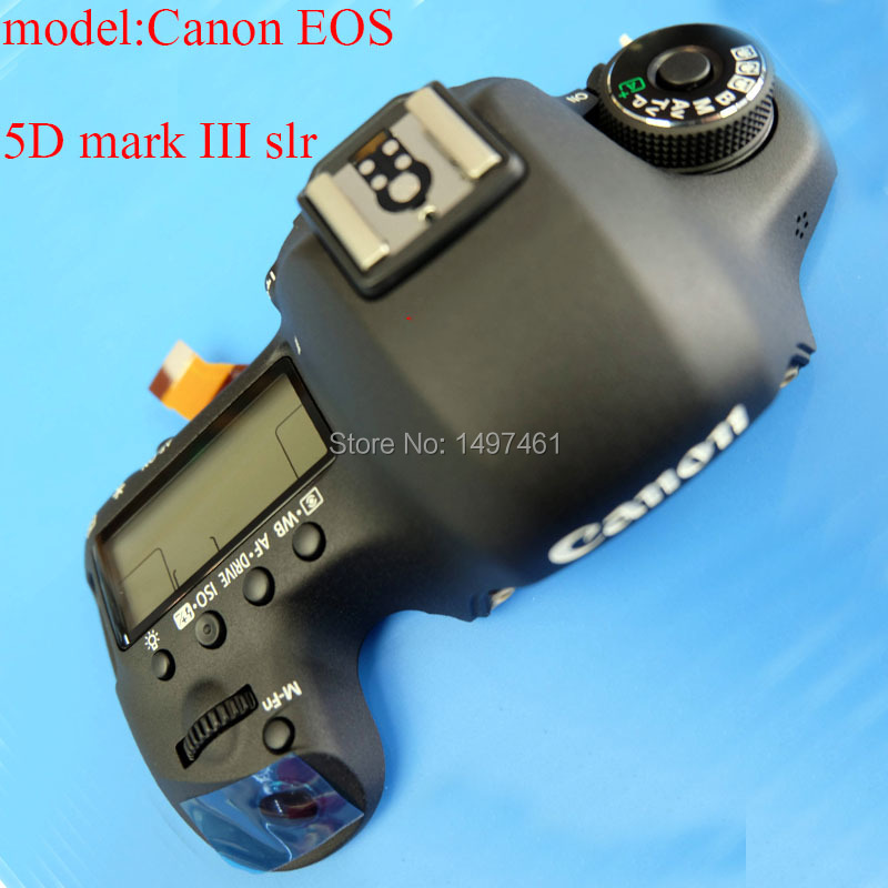New Top cover Assembly with Shoulder screen and buttons repair parts for Canon EOS EOS 5D mark III;5D3;5DIII;DS126321 SLR new original top cover assy with mode swich and buttons repair parts for sony ilce 6000 a6000 camera