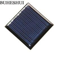 BUHESHUI Epoxy Mini Solar Cell Module Diy Solar Panel Polycrystalline 0.25W 5V For 3.7V Battery Education Study 45*45mm 100pcs