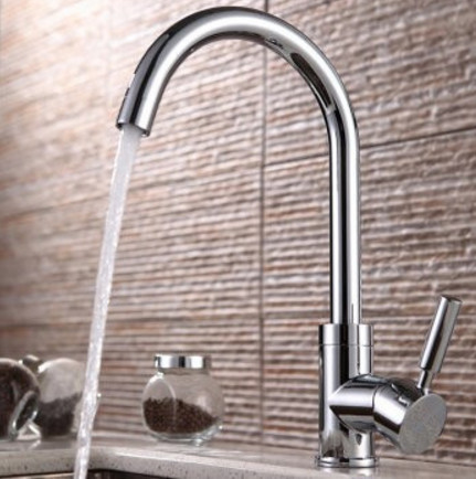 Free shipping 360 Rotation kitchen mixer tap with copper alloy kitchen sink mixer tap by polished