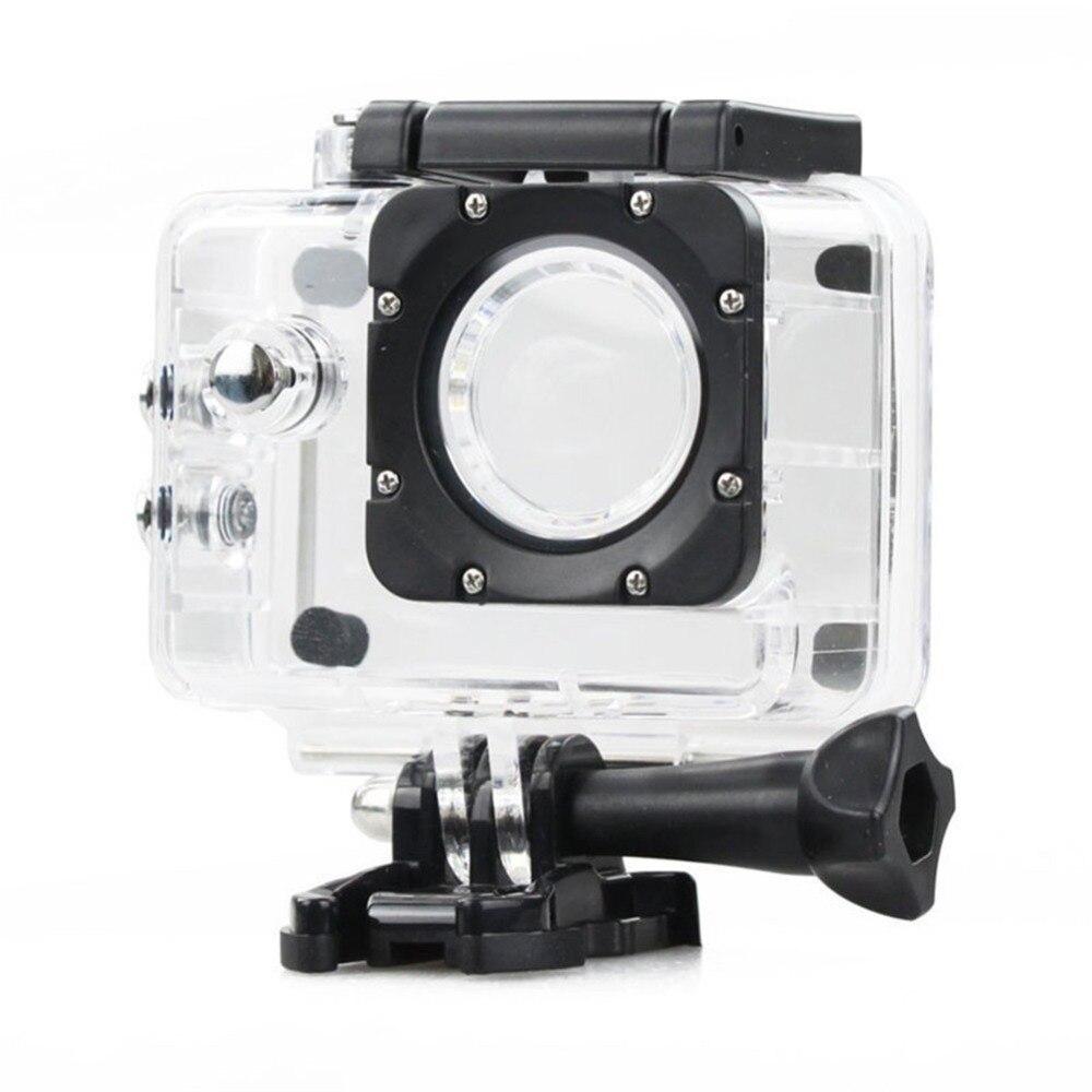 Ação da câmera à prova d' água debaixo d' água caso da habitação de mergulho caso protetora para sjcam sj4000 wifi camcorder cam capacete transparente