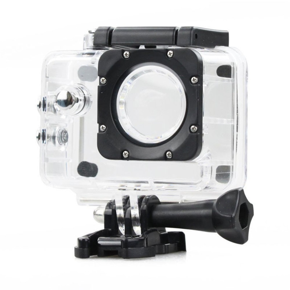 Action Camera Waterproof Underwater Dive Housing Case Protective for SJCAM SJ4000 WIFI Camcorder Cam Helmet Transparent case
