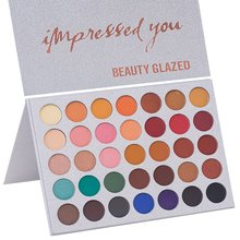 Beauty Glazed Shimmer Matte Makeup Palette 35 Colors Impress You Eye Shadow Palette Nude Smoky Pressed Powder Eyeshadow Palette beauty glazed makeup palette glitter eyeshadow palette eye shadow shimmer pigment loose powder beauty nude maquiagem 10 colors