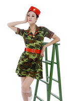 2017 New Chinese Ancient Clothing Dance Camouflage Military Costume Performance Wear Clothes