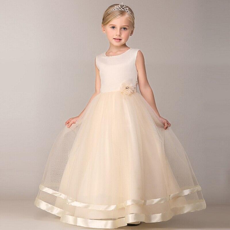kid Elgant princess Dress Littel Girl Christening Wedding Party Flower Girl Clothes Prom Dresses Baby Girls Children Clothing цена