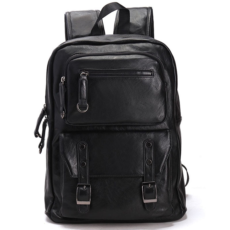 цены  New Men's Backpacks Travel Bag Leather Student Casual Laptop Backpack School Bags for Teenagers Famous Brands Mochila Feminina