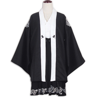 Japanese Harajuku Kimono Women Traditional Black Yukata Embroideried Crane Bathrobe New S/M Size For Adult Women
