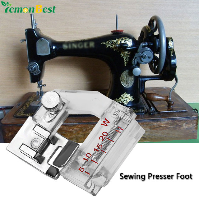Adjustable Bias Binder Sewing Presser Foot Binding Feet Sewing Fascinating Singer Sewing Machine Attachments