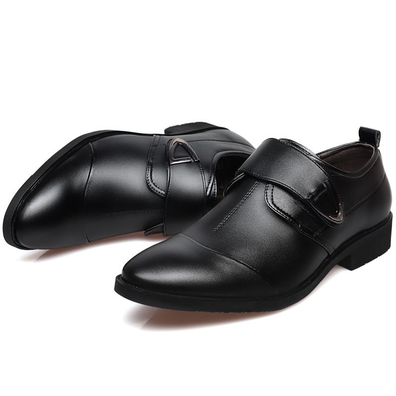 5a147dec0b US $19.2 49% OFF|2019 formal wedding shoes mens pointed toe buckle dress  shoes oxford shoes for men black office business shoes sapatos masculino-in  ...