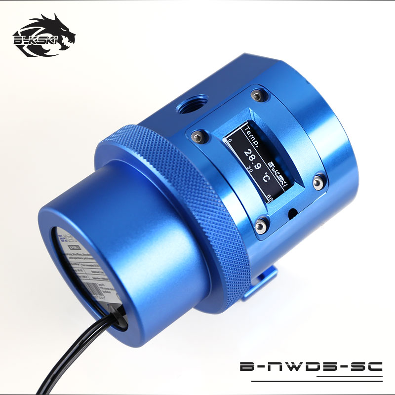Bykski B-NWD5-SC Water Cooling Pump with Temperature Sensor Display D5 MCP655 1100L/1500 3.8M Blue blue sc