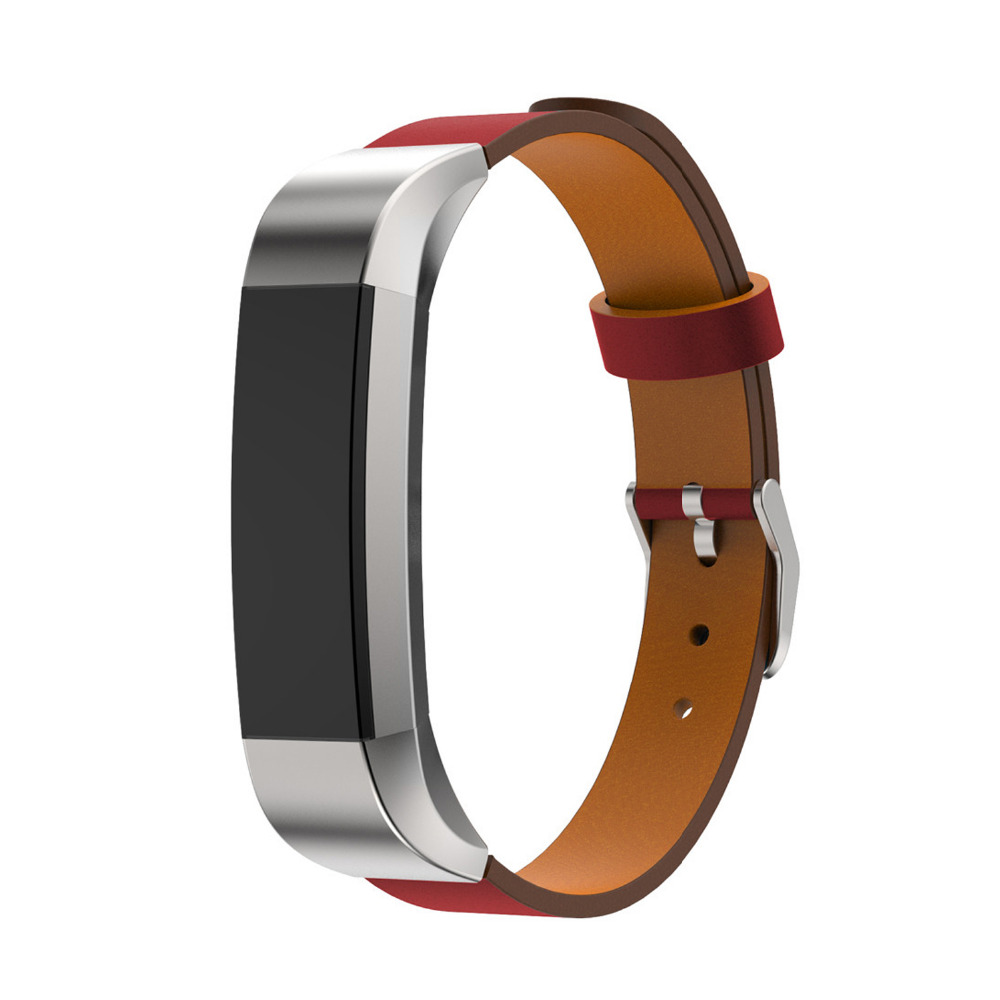 CRESTED leater strap for fitbit alta Single lap Genuine Leather bracelet belt for fitbit alta watch band replacement watch band