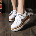Spring Oxfords Shoes For Women Vintage Platform Creepers Leather Star Women's Oxfords Shoes Casual Ladies Flats Shoes
