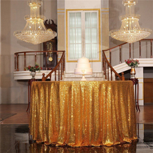 120CM Round Glitter Sequin Tablecloth Gold Silver Sequin Table Cloth for Wedding Party Christmas Decoration Drop Shipping